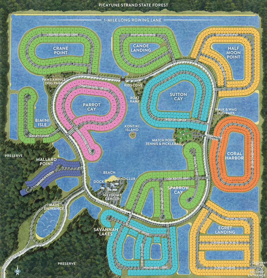 Mobile Site Map: New Homes Naples FL