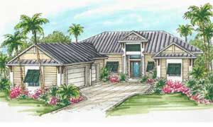 Custom model homes under construction at Naples Reserve