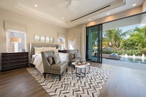 KTS Homes Newport master suite at Naples Reserve