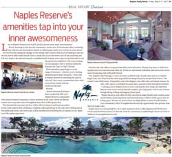 Naples Reserve's amenities tap into your inner awesomeness