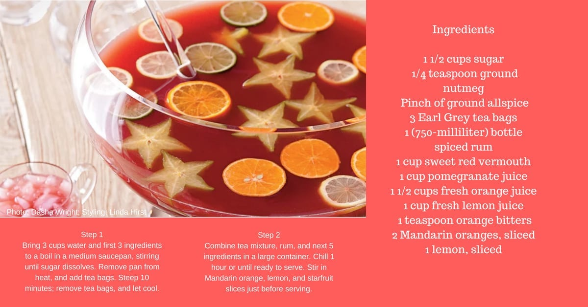 Red punch with floating fruit to enjoy at Naples Reserve