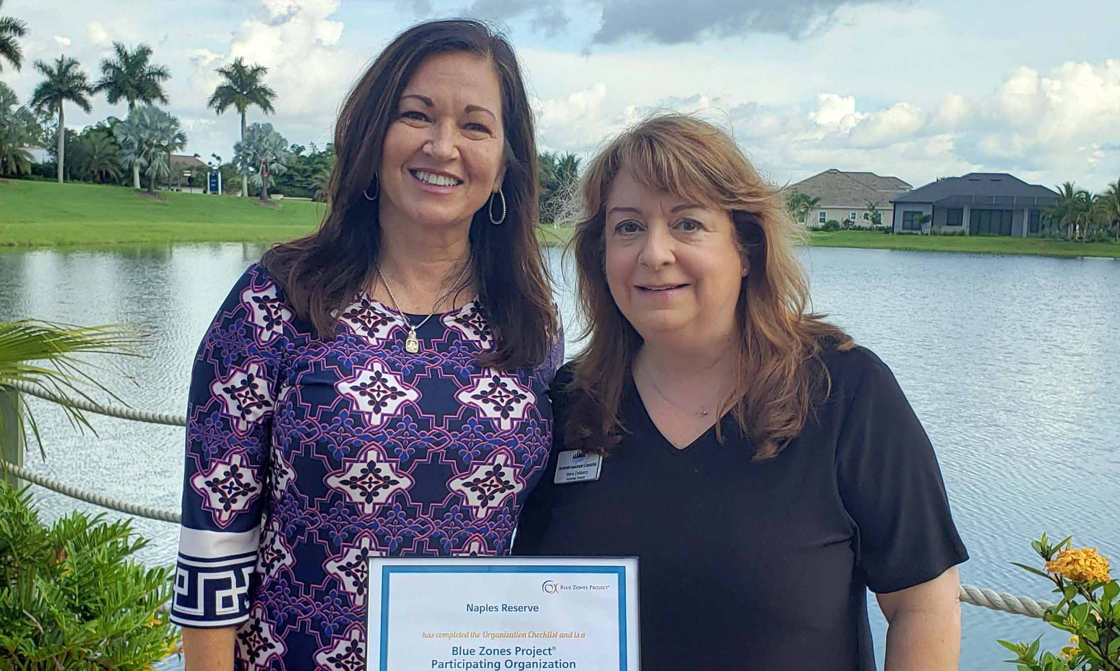 Naples Reserve's Homeowners Association earns Blue Zones Project Recognition