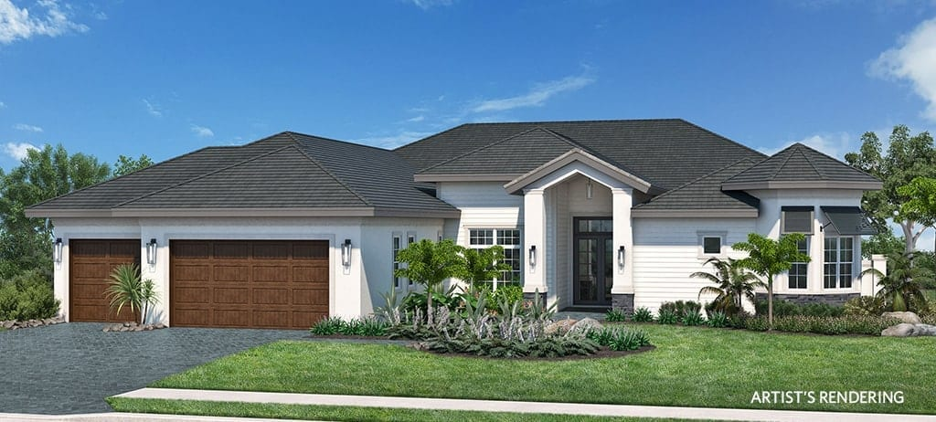 Rendering of the Key Biscayne Model Home at Naples Reserve